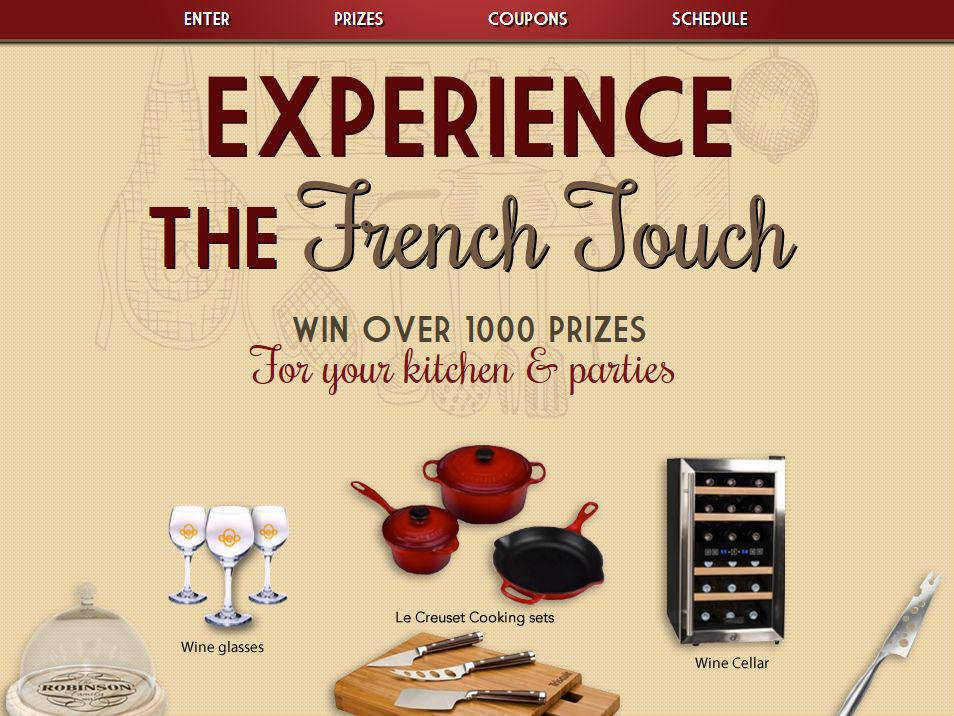 Experience the French Touch Sweepstakes