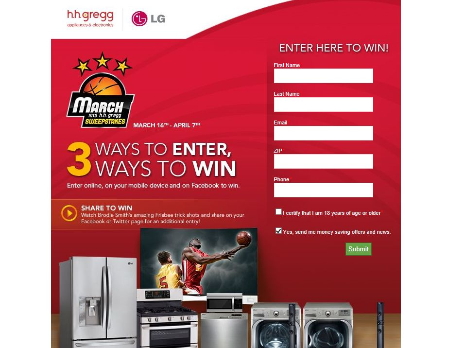 March into h.h. gregg Promotion