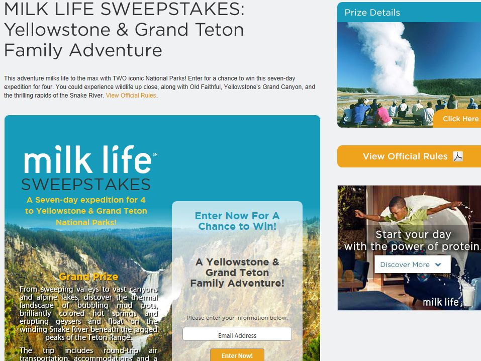 National Geographic The Milk Life Sweepstakes