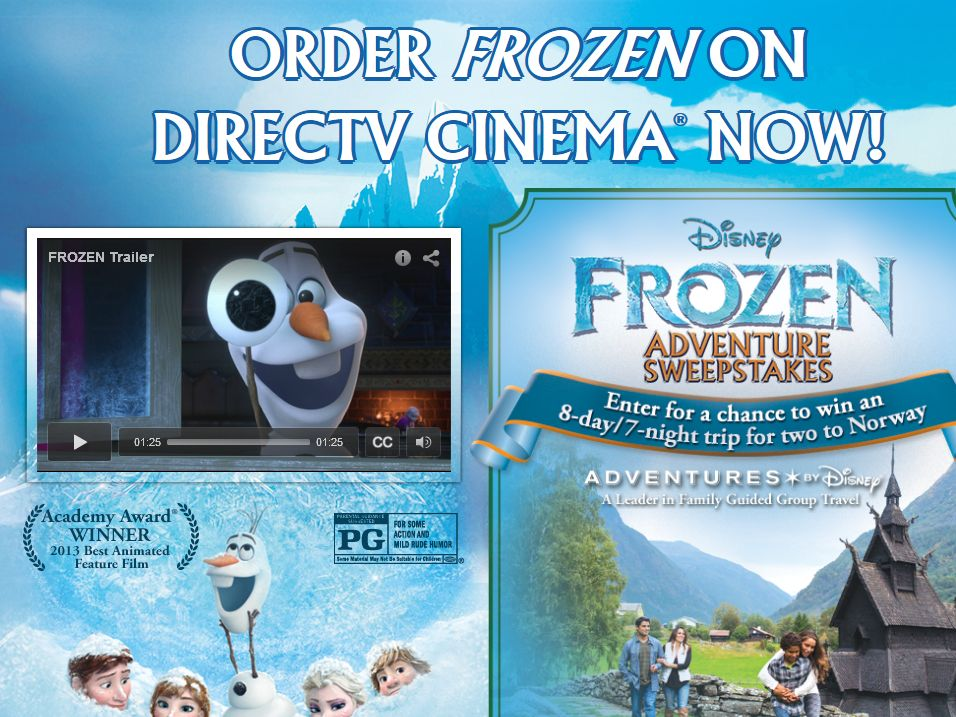 The Frozen Adventure Sweepstakes