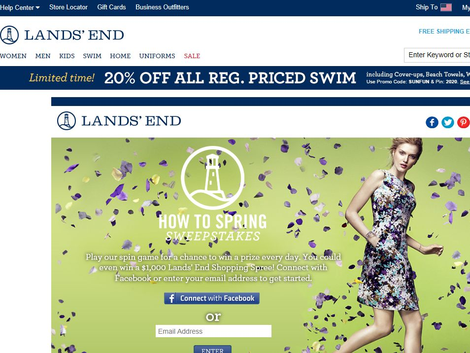 Land's End How to Spring Instant Win and Sweepstakes