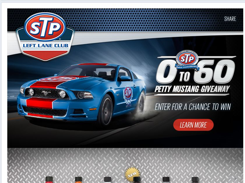 STP 0 To 60 Petty Mustang Giveaway Sweepstakes