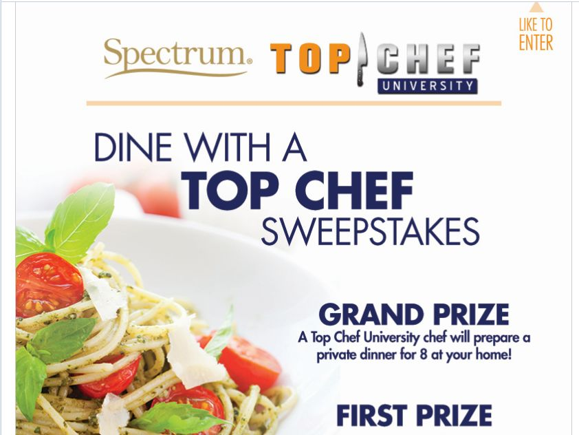 Spectrum 'Dine with a Top Chef' Sweepstakes