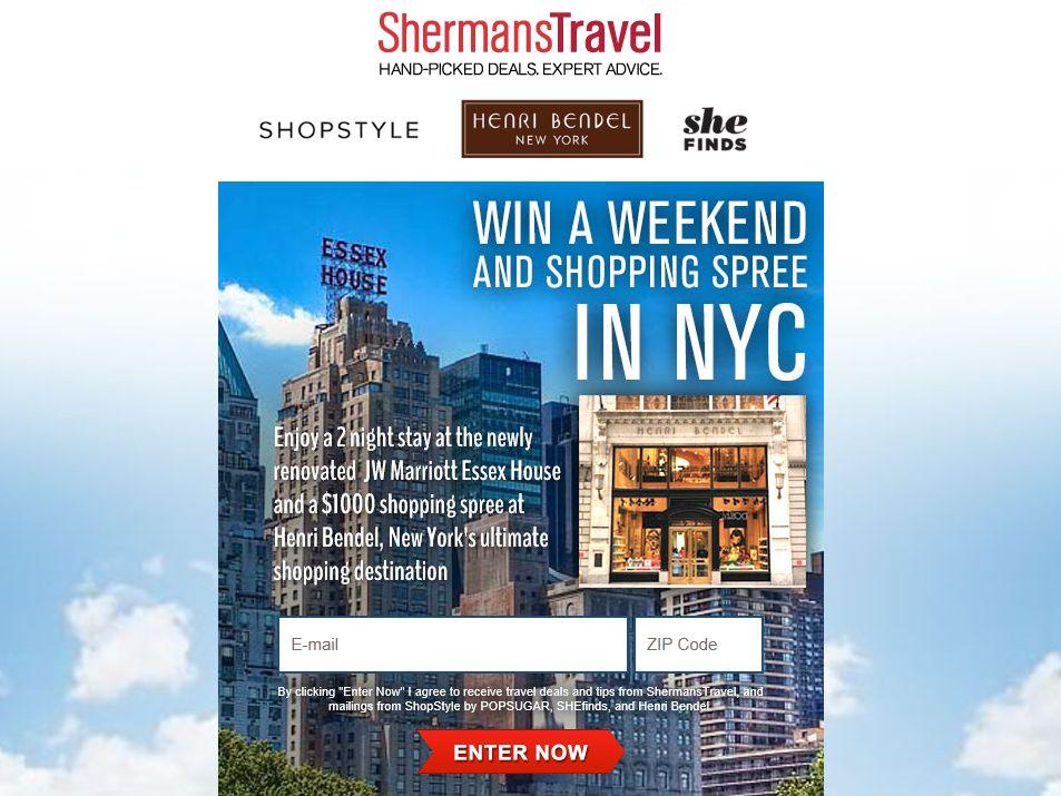 NYC Henri Bendel Shopping Spree Sweepstakes