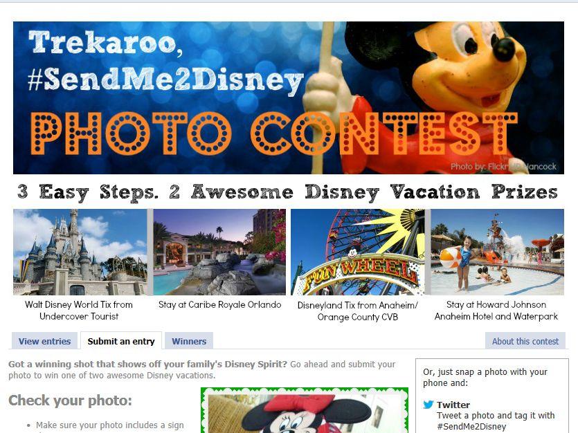 "Trekaroo, ""#SendMe2Disney"" Photo Contest"
