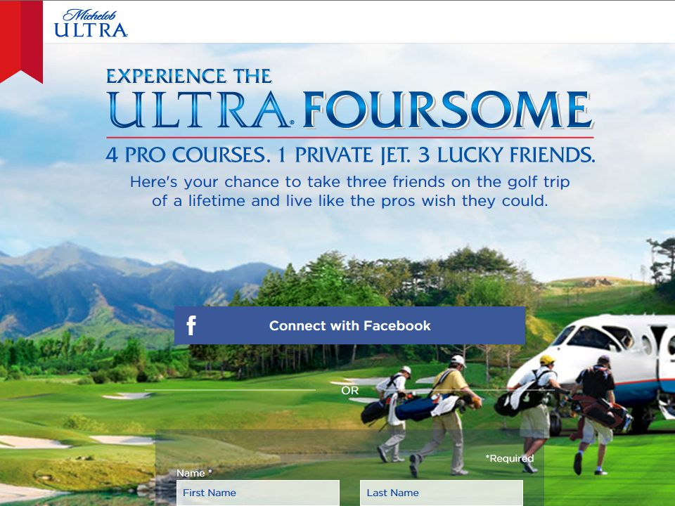 Michelob ULTRA 'ULTRA Foursome Golf Trip' Sweepstakes
