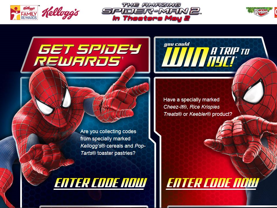 Kellogg's – THE AMAZING SPIDER-MAN 2 Instant Win Game