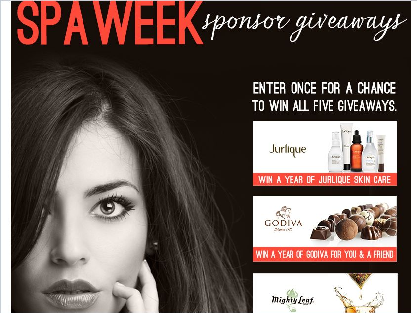 Spa Week Sponsor Giveaway