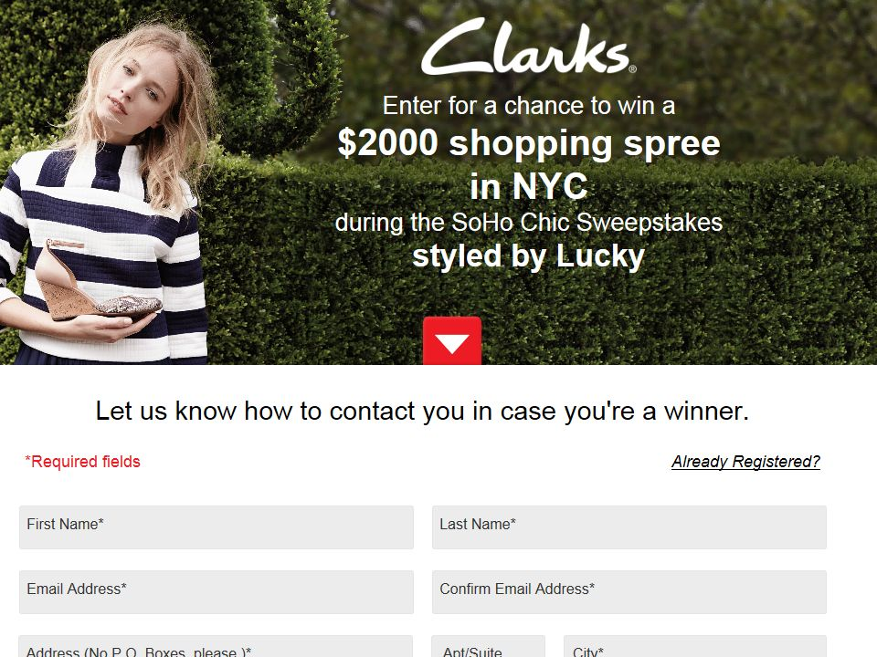 Styled by Lucky Clarks Soho Chic Sweepstakes