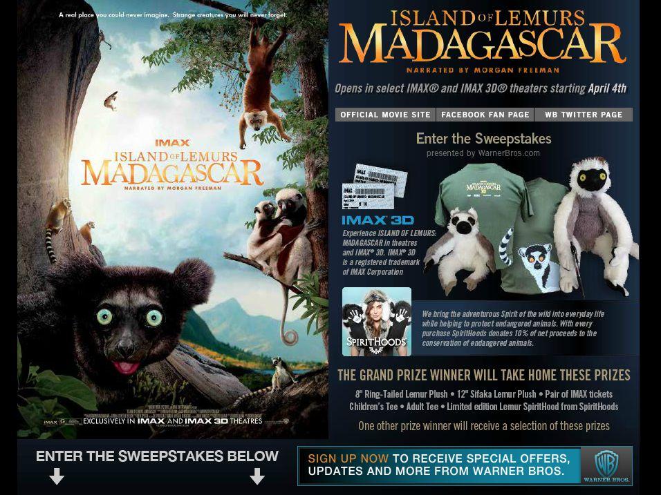 Island of Lemurs: Madagascar Sweepstakes