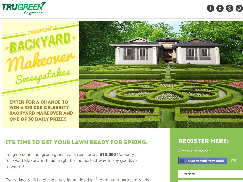 TruGreen Backyard Makeover Sweepstakes