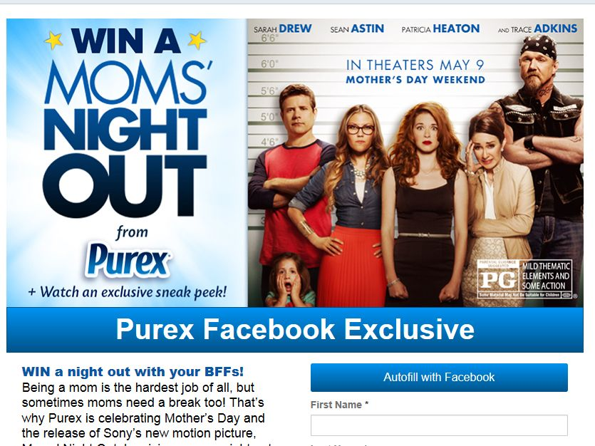 """Purex """"Moms' Night Out"""" Sweepstakes"""