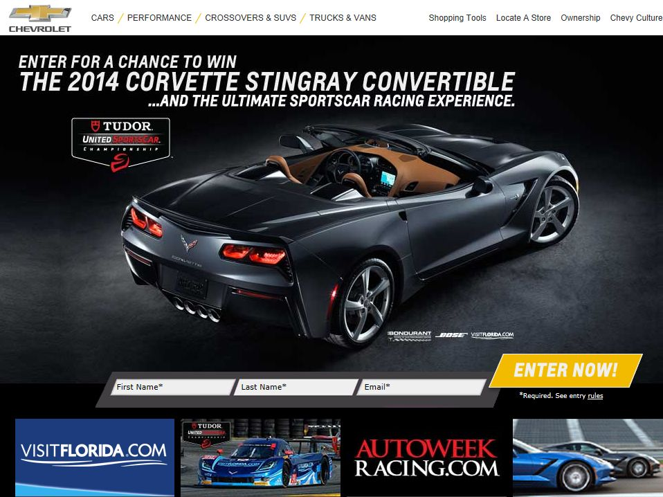 Chevrolet Win the 2014 Corvette Stingray Z51 Convertible Sweepstakes