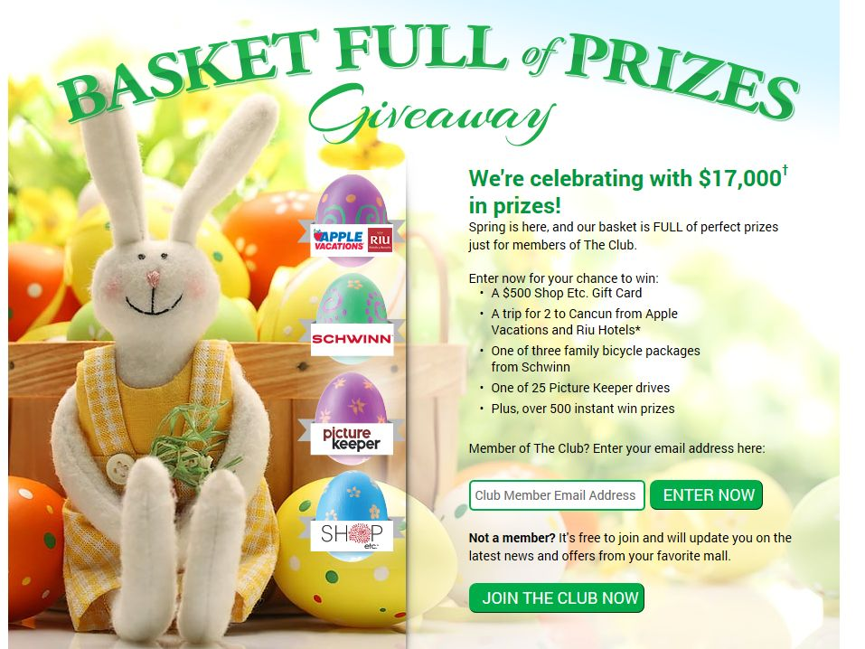 Basket Full of Prizes Giveaway Sweepstakes