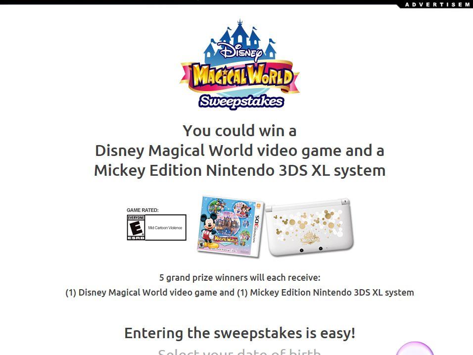 Disney Magical World Sweepstakes