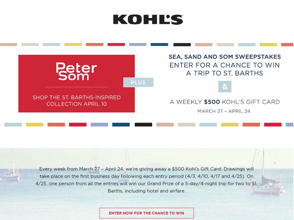 Kohl's Peter Som Sweepstakes