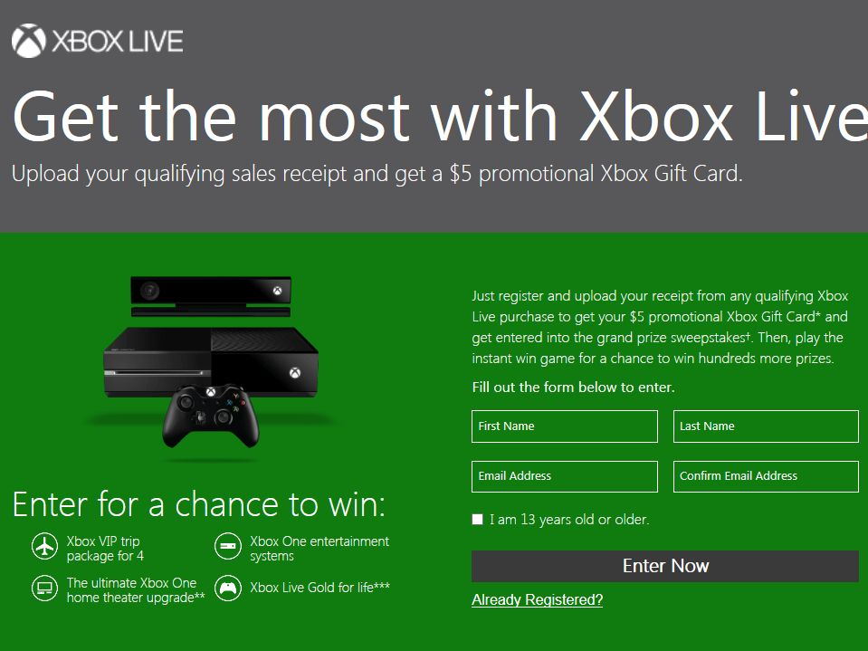 Get the Most with Xbox Live Sweepstakes