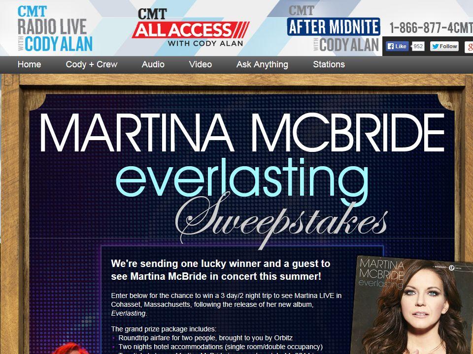Martina McBride Everlasting Sweepstakes
