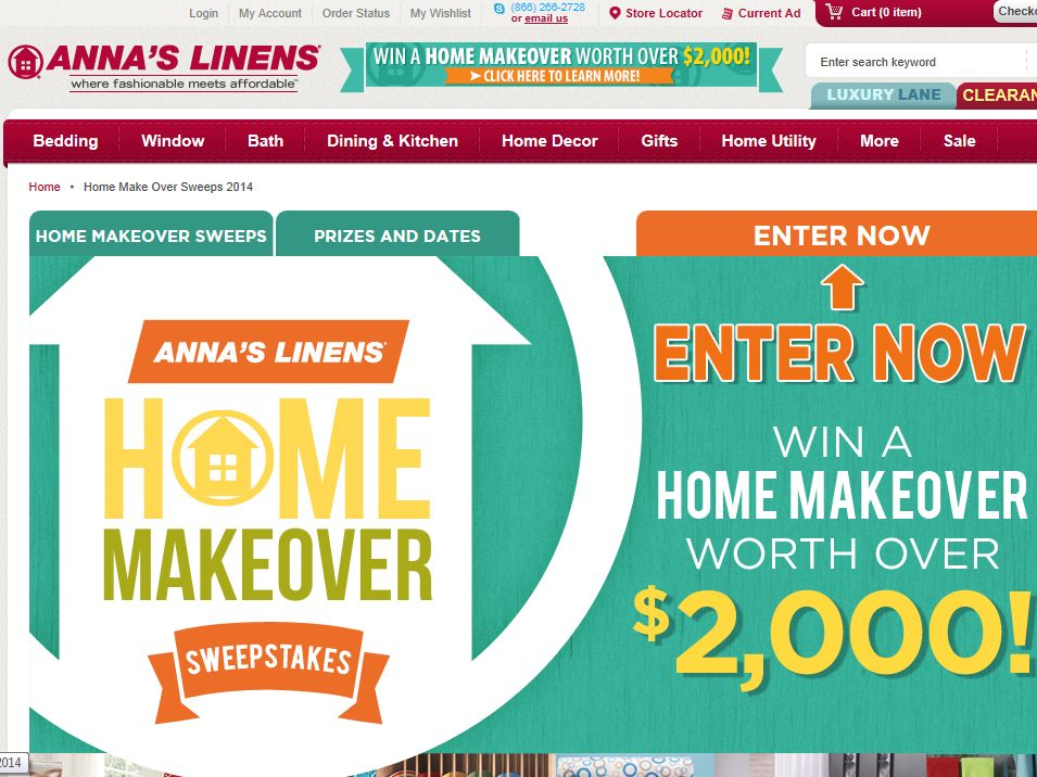 """Anna's Linens """"Home Makeover"""" Sweepstakes"""