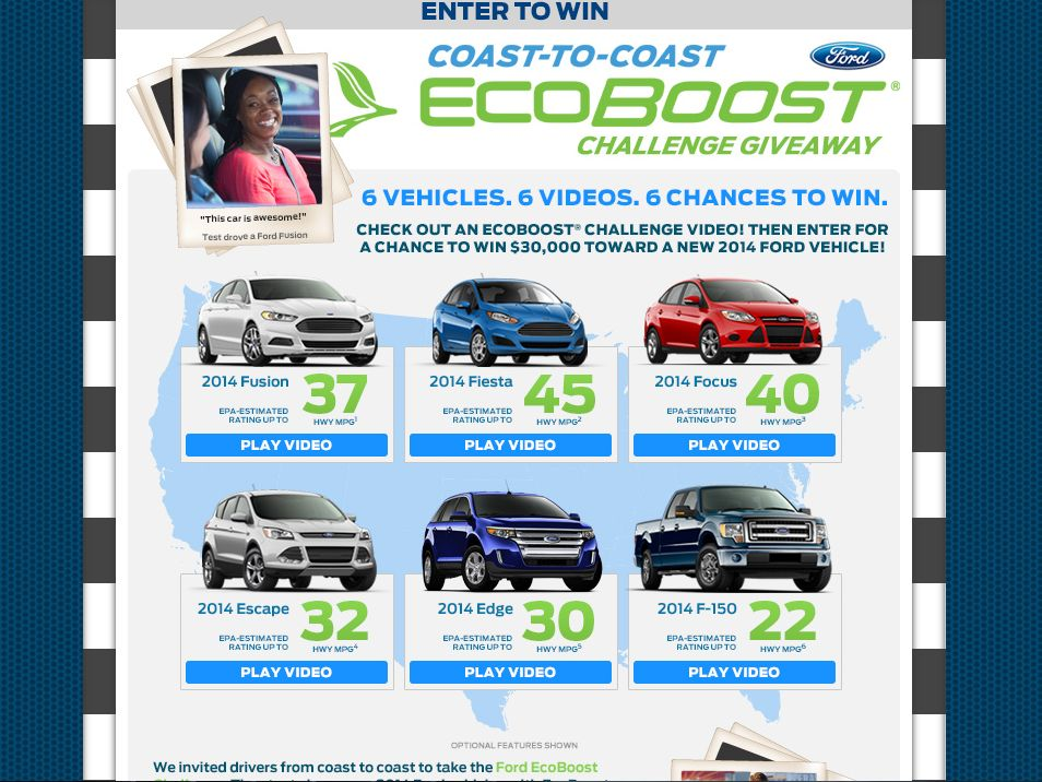 2014 Ford EcoBoost Challenge Giveaway Sweepstakes