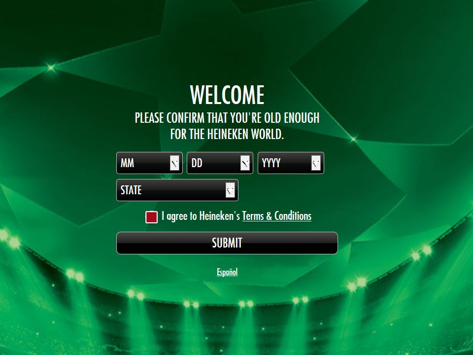 "Heineken UEFA Champions League ""Match Your Ticket Half"" Promotion"