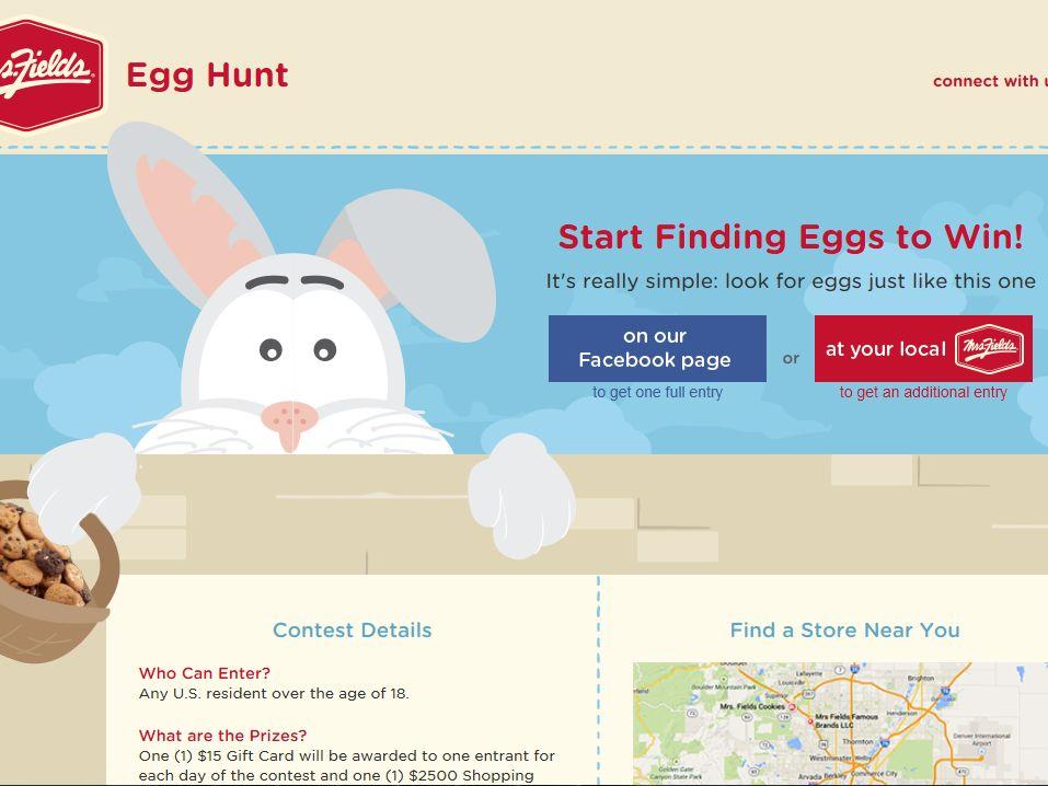 Mrs. Fields Egg Hunt Sweepstakes