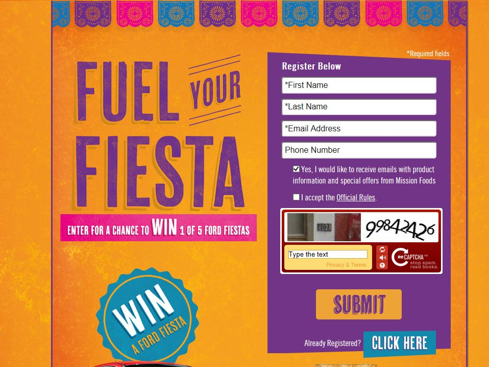 Fuel Your Fiesta Sweepstakes