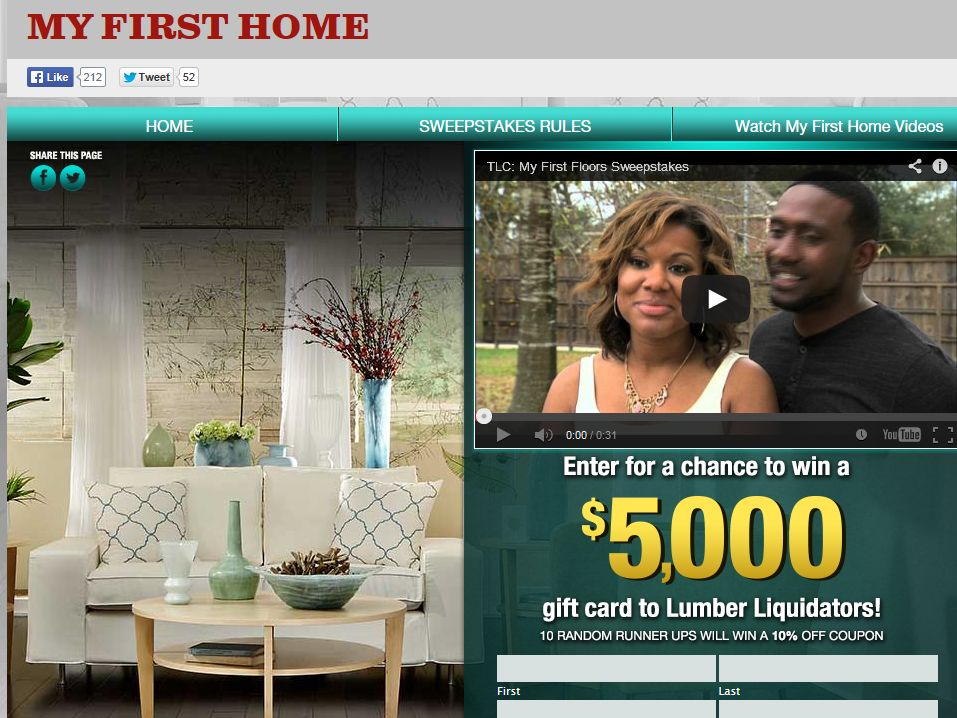"TLC ""My First Home"" Sweepstakes"