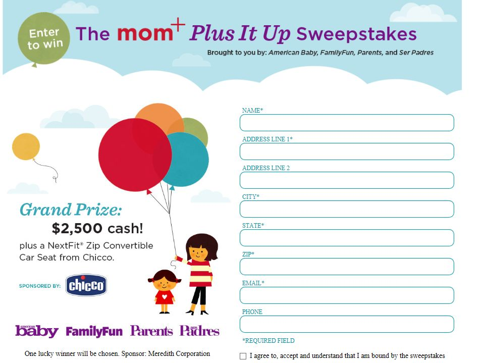 Mom+ Plus it Up Sweepstakes