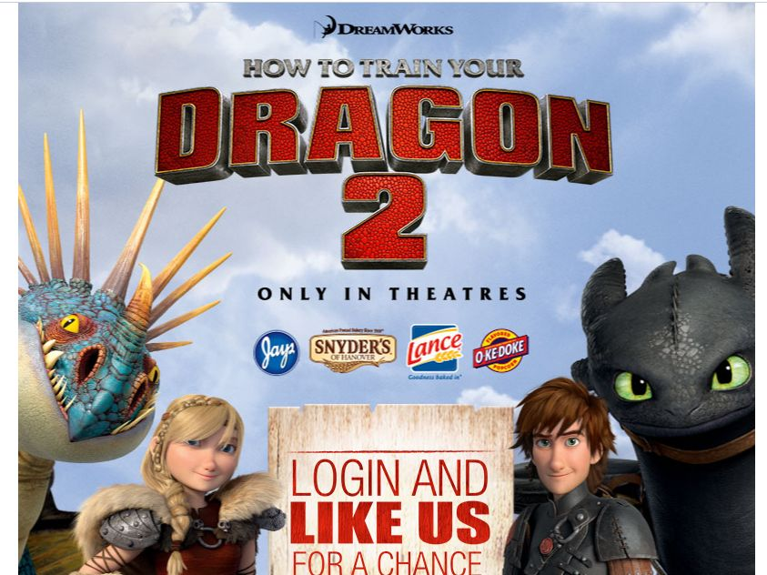 Snyder's of Hanover How To Train Your Dragon 2 Sweepstakes