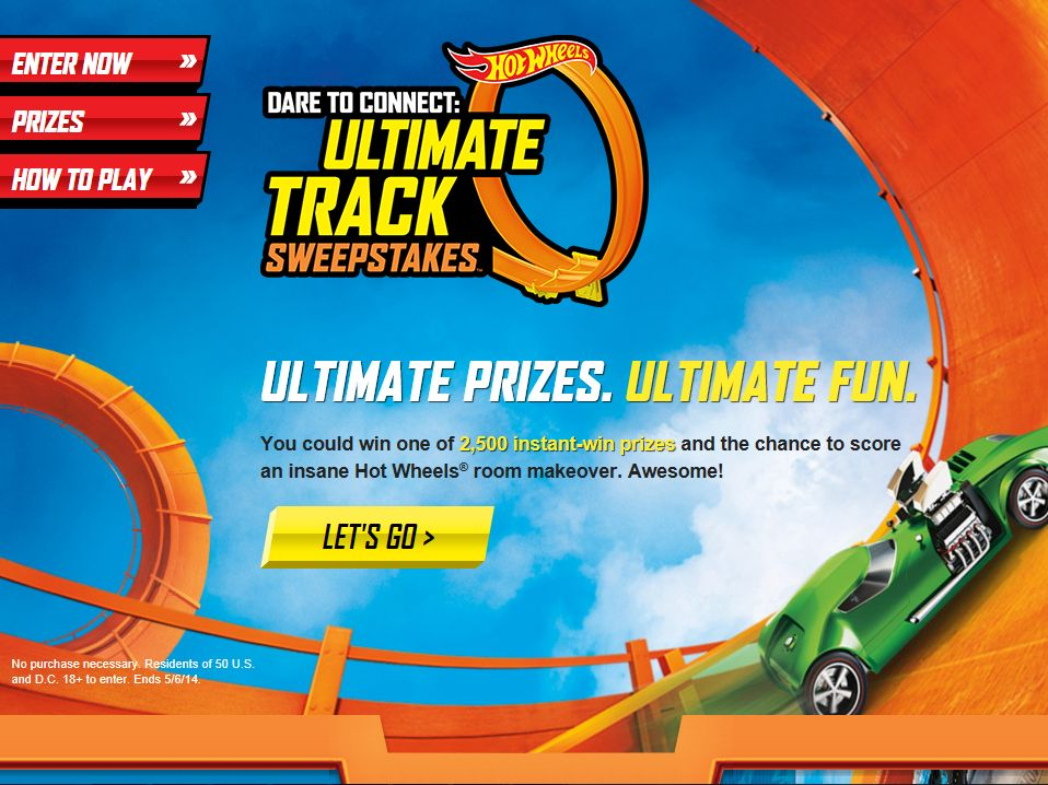 Hot Wheels Dare to Connect: Ultimate Track Sweepstakes