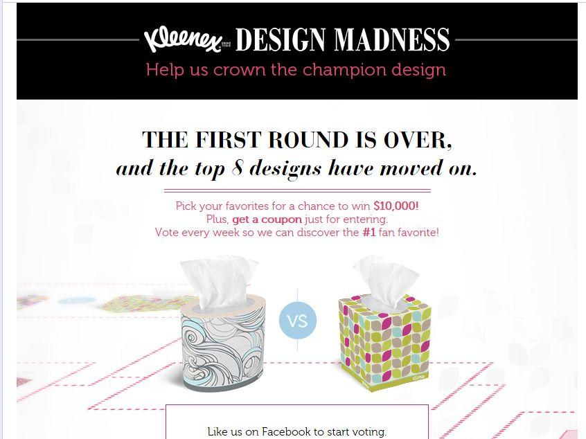 "Kleenex Brand ""Design Madness"" Sweepstakes"