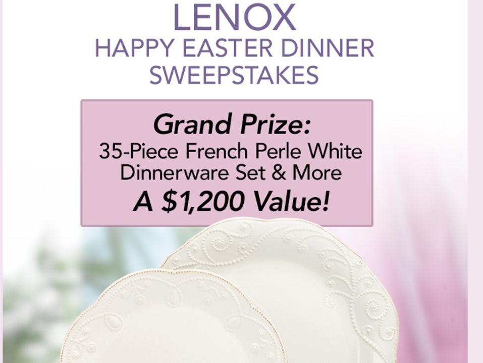 Lenox Happy Easter Dinnerware Sweepstakes