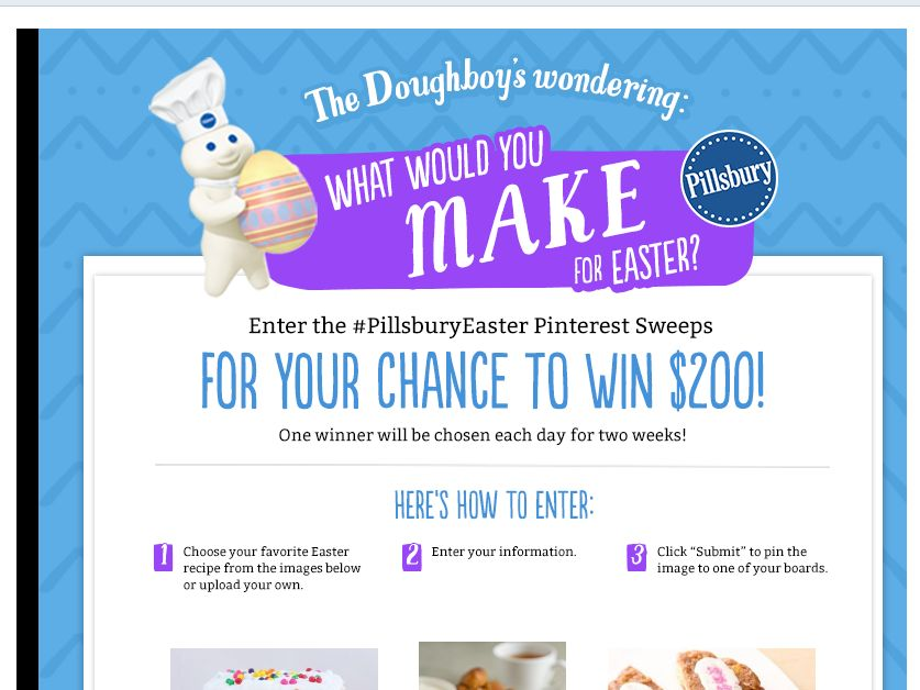 Pillsbury Easter Pinterest Sweepstakes