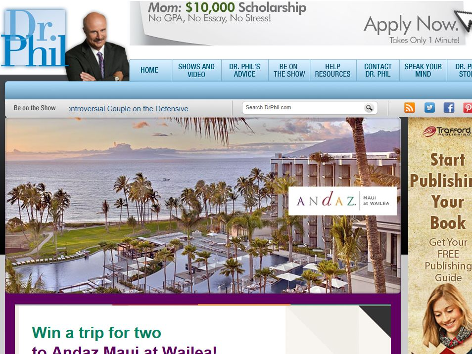 Dr. Phil Andaz Maui Sweepstakes