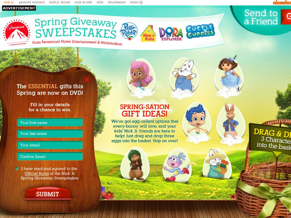 Nick Jr  Spring Giveaways Sweepstakes