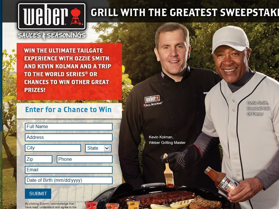 Weber Grill with the Greatest Sweepstakes