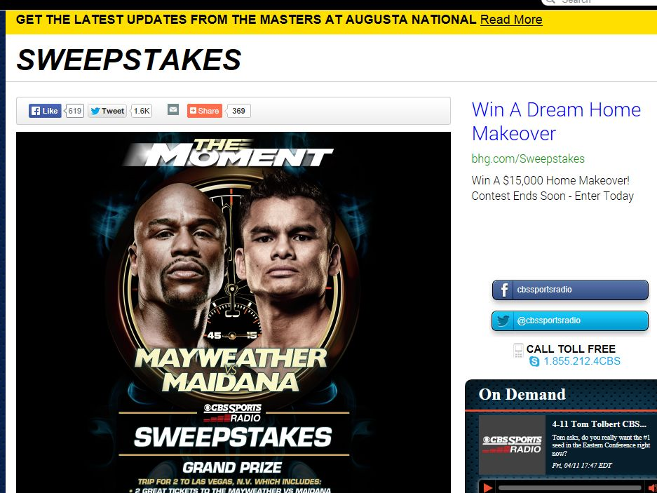 CBS Sports Radio The Moment Sweepstakes