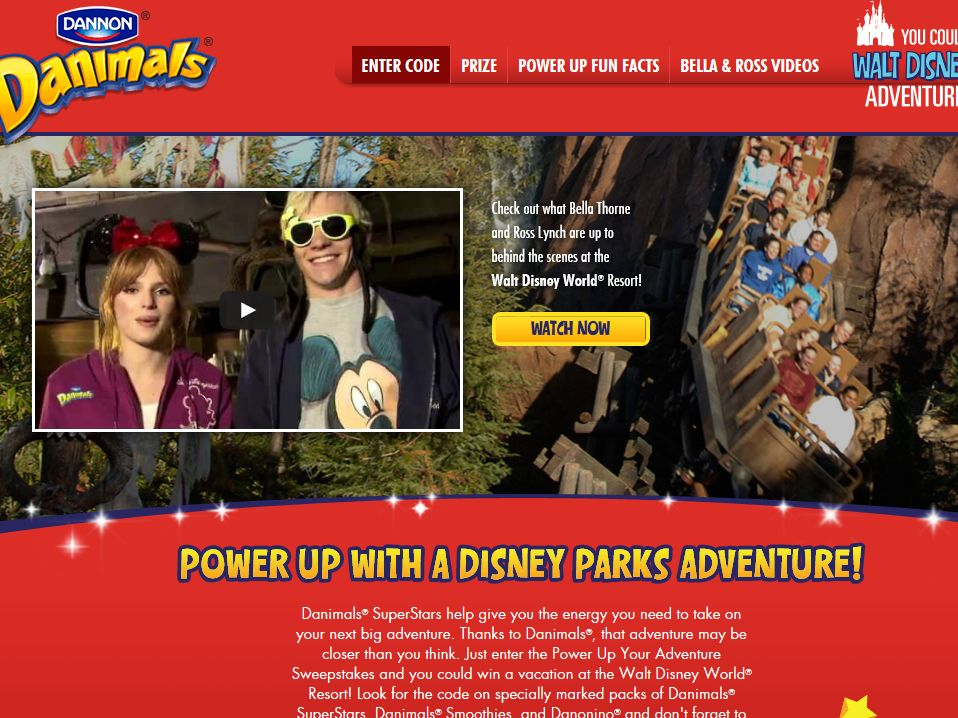DANNON Danimals Power Up Your Adventure Instant-Win Sweepstakes – Code Required