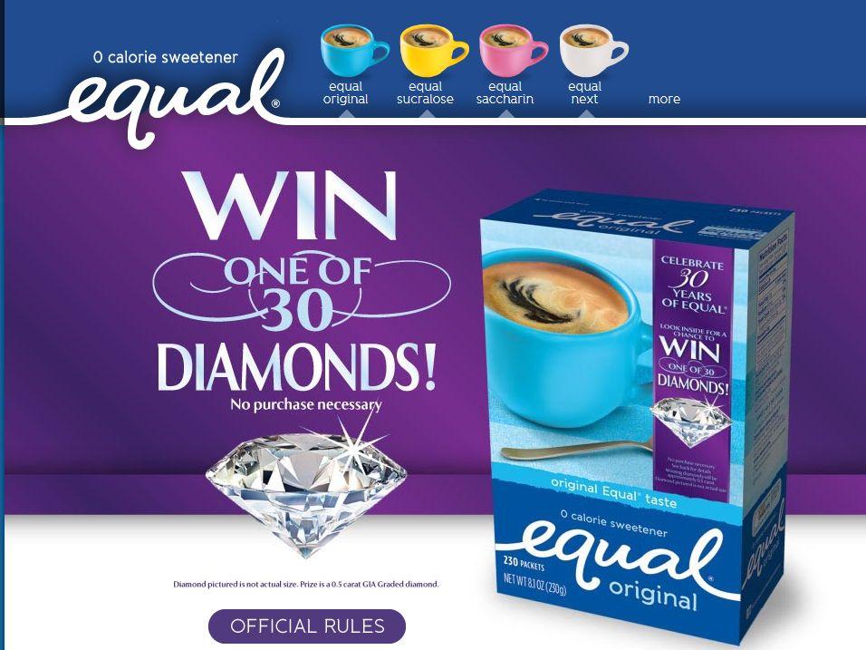 Equal Diamond Giveaway Sweepstakes