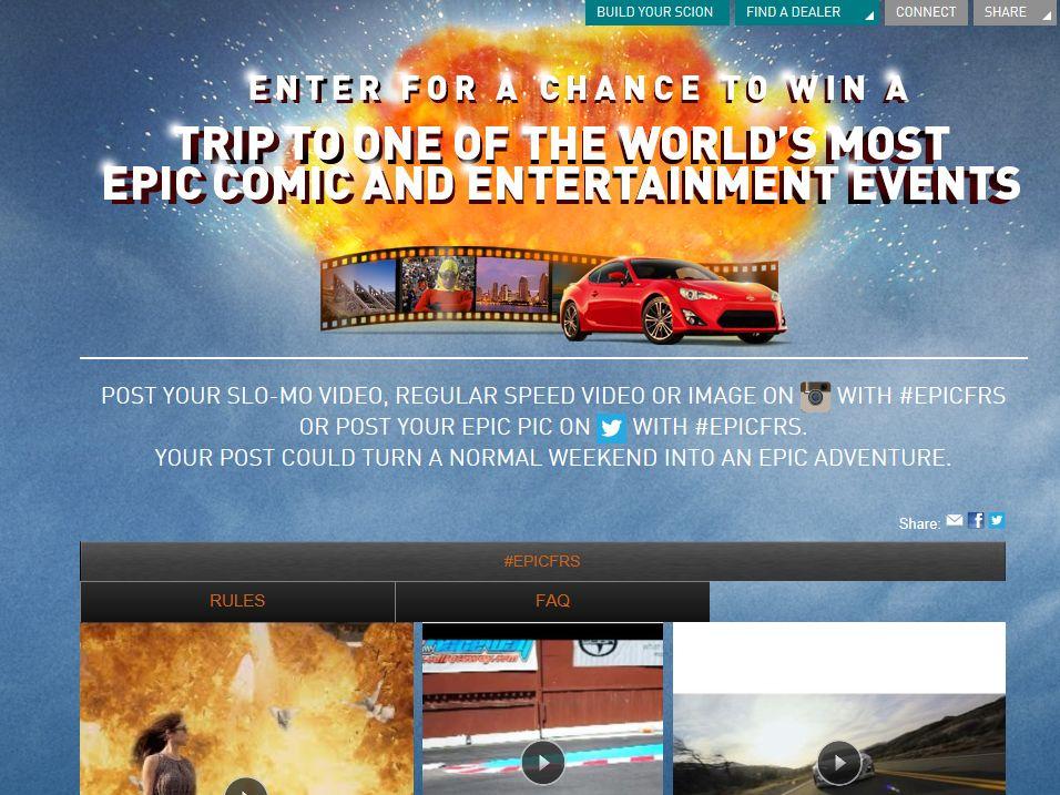 Scion FR-S Social Media Contest