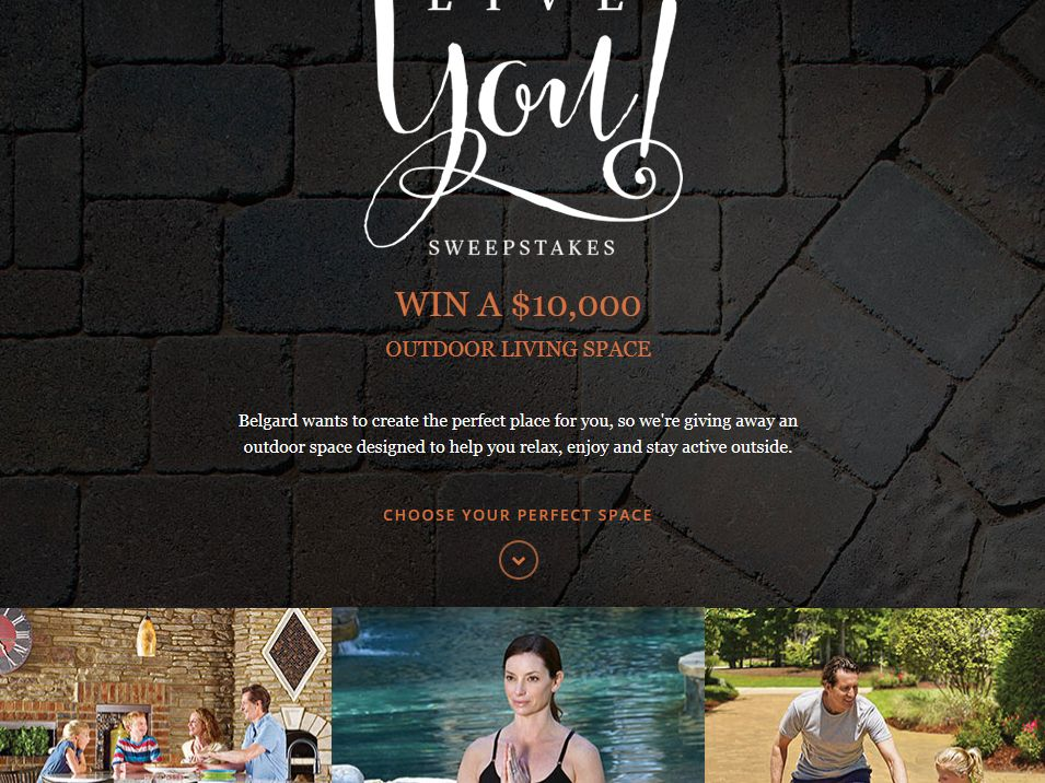 Belgard Hardscapes Long Live You Sweepstakes