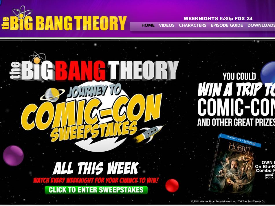 "The Big Bang Theory ""Journey to Comic-Con"" Sweepstakes"