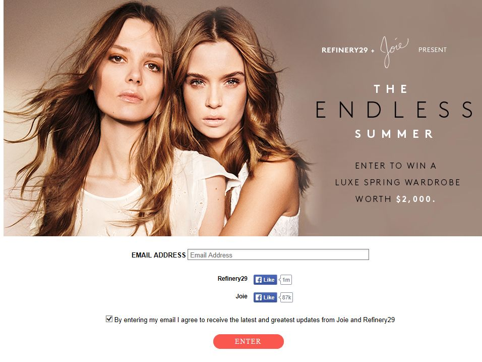 "The ""Refinery29 + Joie"" Sweepstakes"