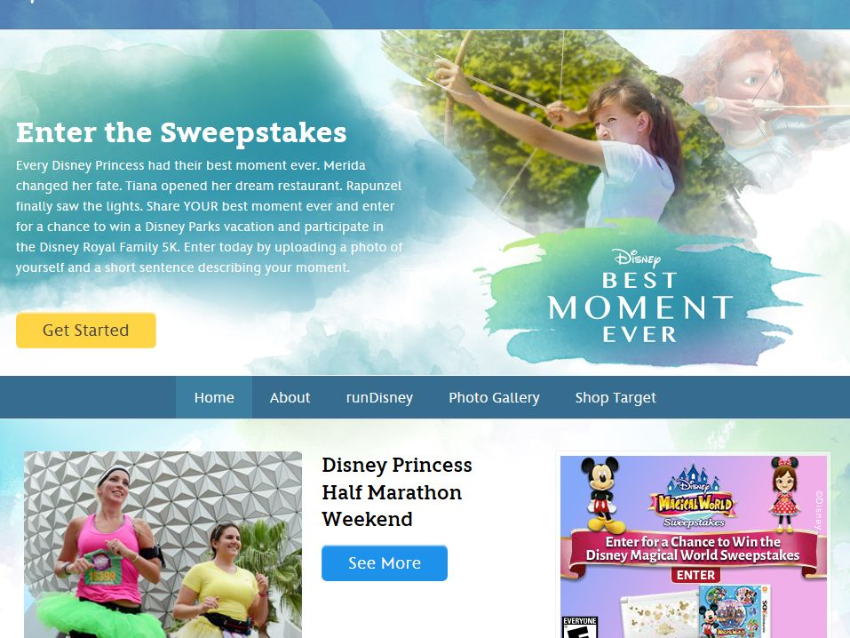 Disney's Best Moment Ever Sweepstakes