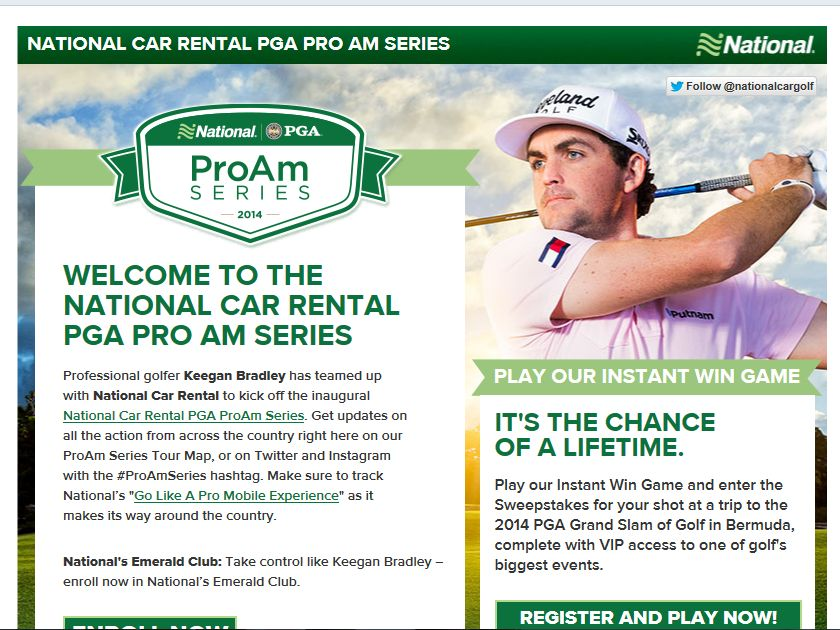"National Rental Car ""Go Like A Pro"" Sweepstakes"