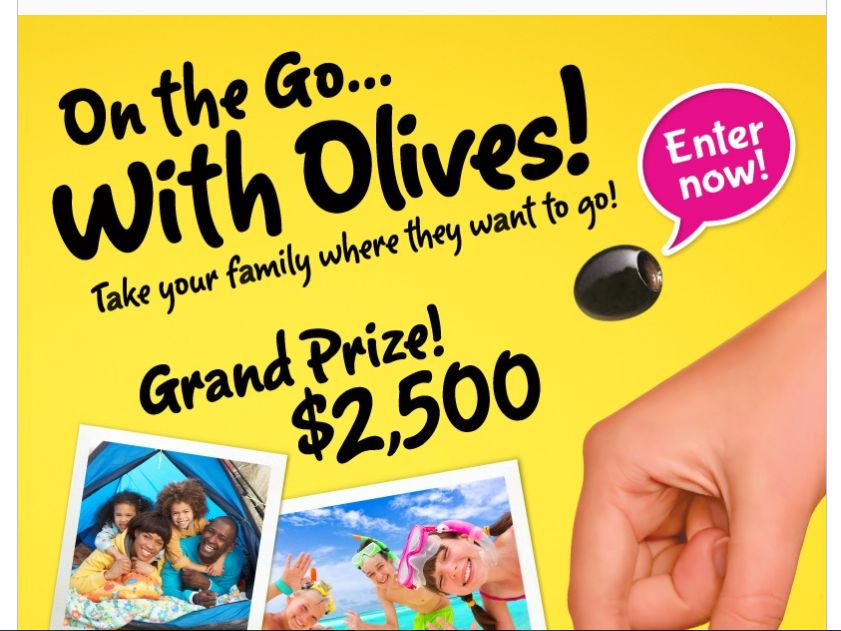 Musco Olives On the Go with Olives! Sweepstakes