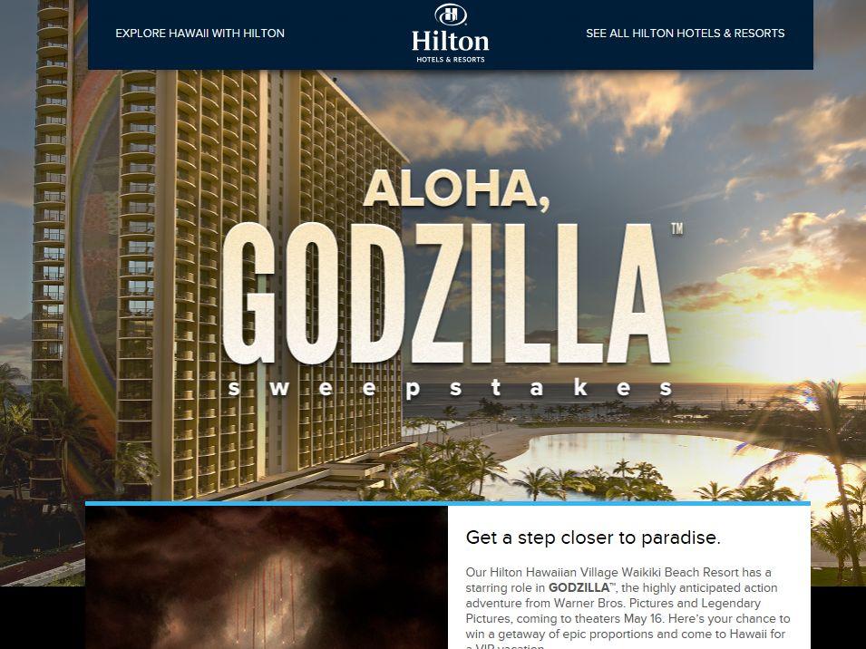 Hilton Hotels Aloha, Godzilla Sweepstakes