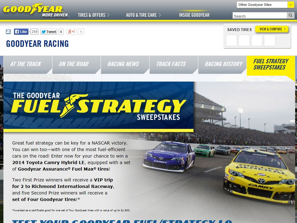 The Goodyear Fuel Strategy Sweepstakes
