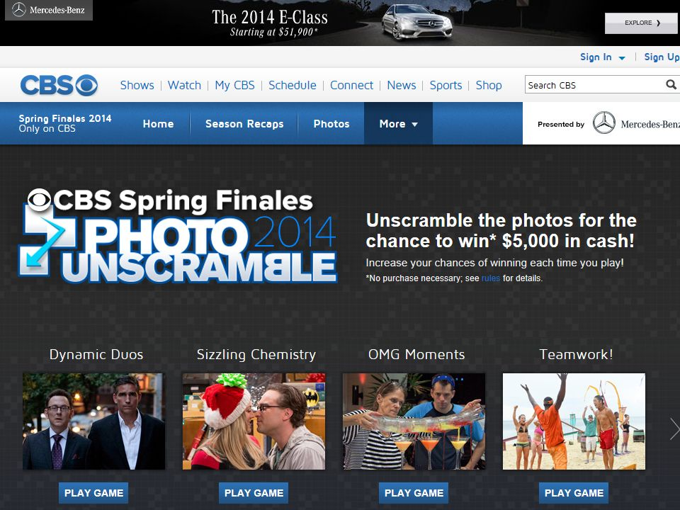 CBS Finales 2014 Sweepstakes